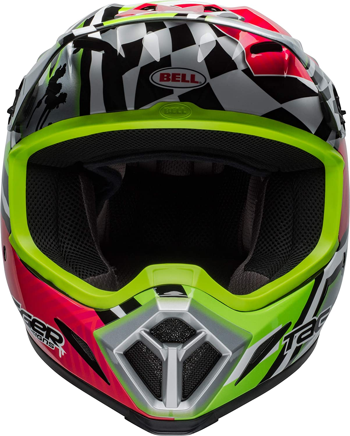 Bell MX-9 MIPS Off-Road Motorcycle Helmet Tagger Asymmetric Gloss Pink//Green, X-Large