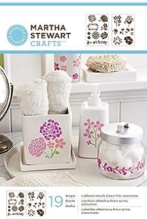 Martha Stewart Crafts Adhesive Stencils (5.75 by 7.75-Inch), 32269 19 Blossoms