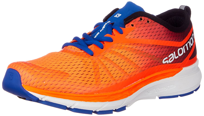 Salomon Sonic Ra Pro, Zapatillas de Trail Running para Hombre 42 EU|Naranja (Shocking Orange / Surf The Web / Acid L 000)