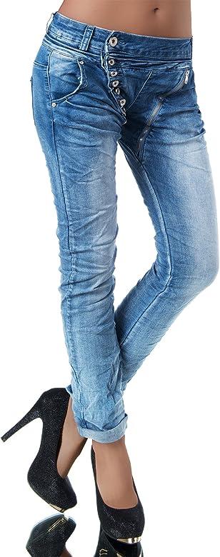 Diva-Jeans - Vaqueros - Boyfriend - Básico - para Mujer