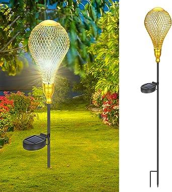 Farolillos solares de jardín Philonext, luces colgantes para exteriores, adorables y románticos globos calientes, luces de jardín decorativas para pasarelas, camino, patio, césped: Amazon.es: Iluminación