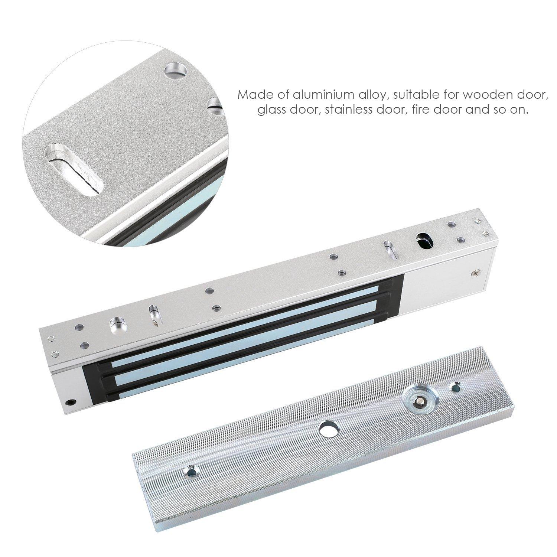 MVPOWER Cerradura Electromagnética Magnética Eléctricos Puerta Magnética aluminio para el Control de Acceso Fuerza de Retención de 280KG 12V: Amazon.es: ...