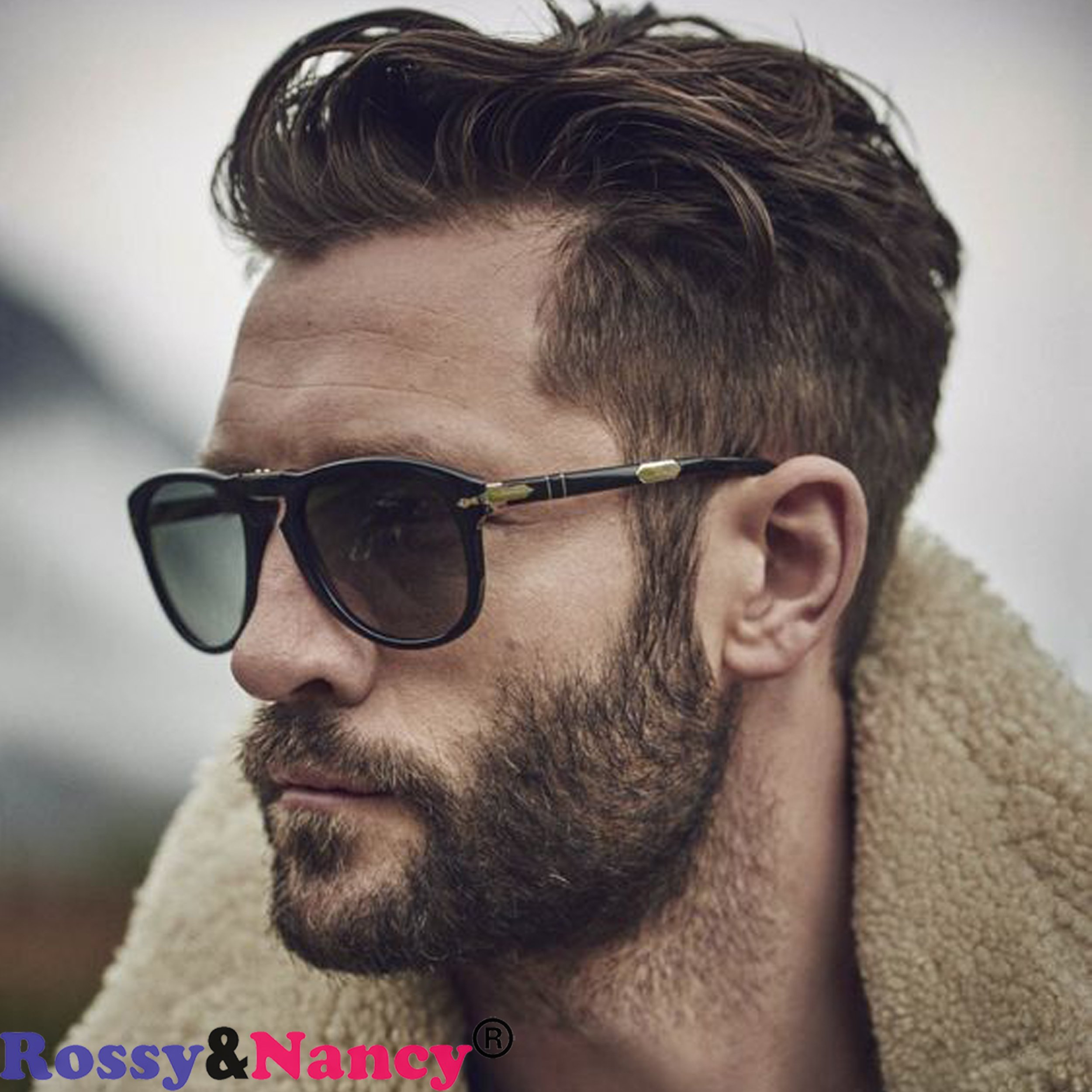Rossy&Nancy Men Hairpiece Real French Lace Human Hair Replacement for Men Wig Thin Skin Men's Toupee #4 Color