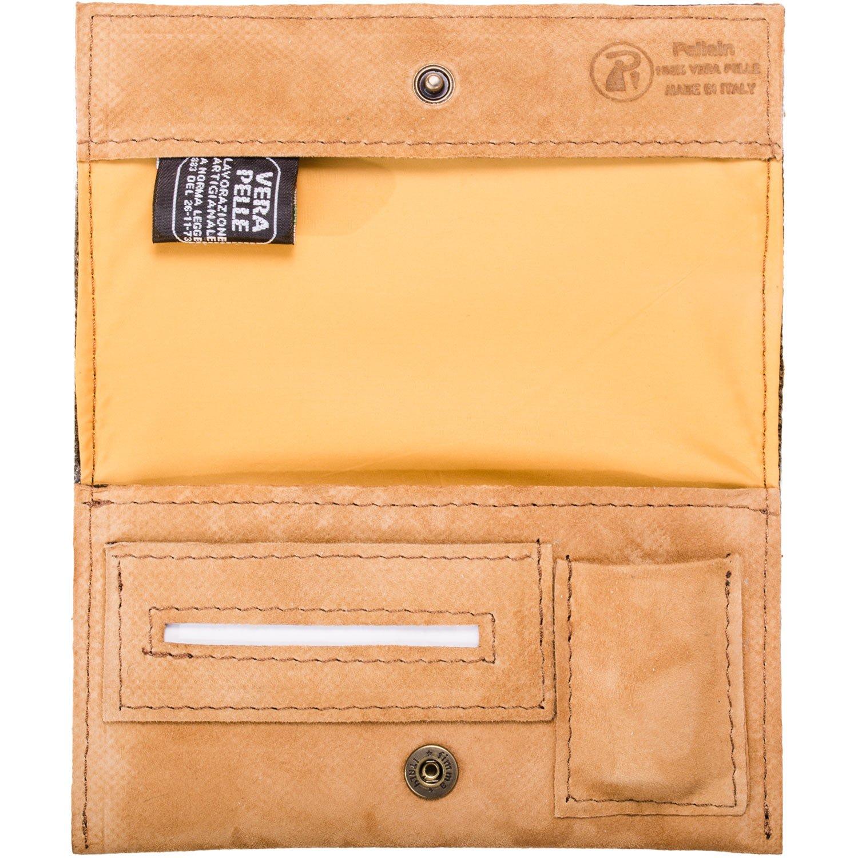 Portatabacco Borsello Astuccio in vera pelle sahara Idea Regalo - Porta Tabacco Pellein PORTATAB-339