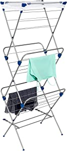Honey-Can-Do DRY-01105 3-Tier Mesh Top Premium 60-Inch Drying Rack, Silver