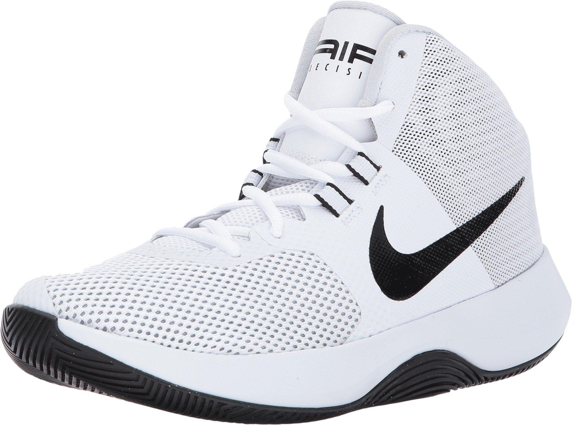 NIKE Women's Air Precision Basketball Shoes (10, White)