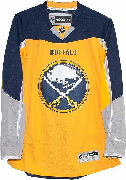 Amazon.com : Reebok Buffalo Sabres Alternate Yellow Premier Jersey ...