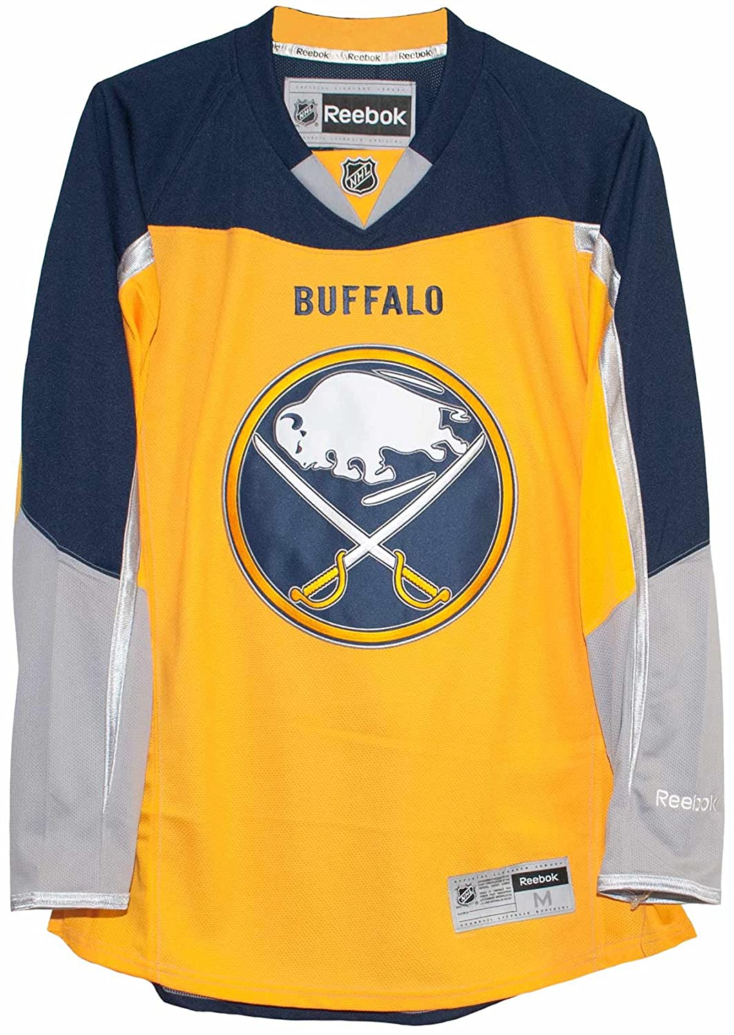 super popular f416f dd7a6 Amazon.com : Buffalo Sabres Alternate Yellow Reebok Premier ...