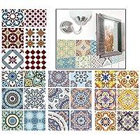 Blizim 24 Piezas 15x15cm Adhesivo Azulejos Adhesivo Decorativo