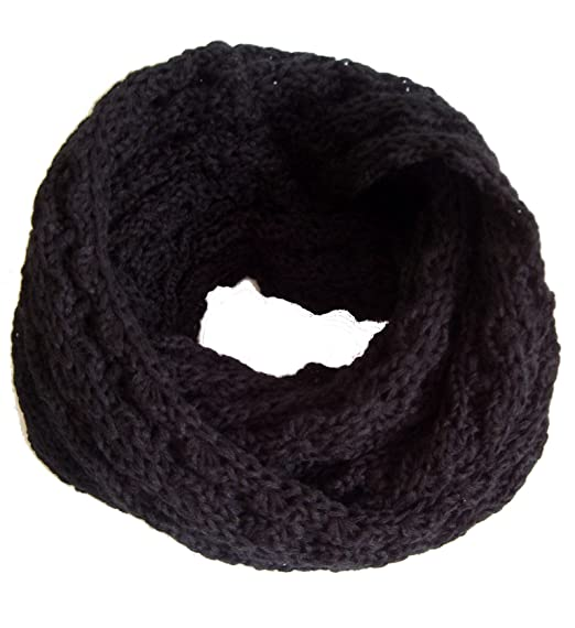 a7d5b8dc6 Frost Hats Winter Infinity Scarf For Women Is 1 Black Knitted Loop