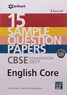 15 Sample Question Papers, CBSE Examination 2017, ENGLISH CORE, Class 12th price comparison at Flipkart, Amazon, Crossword, Uread, Bookadda, Landmark, Homeshop18