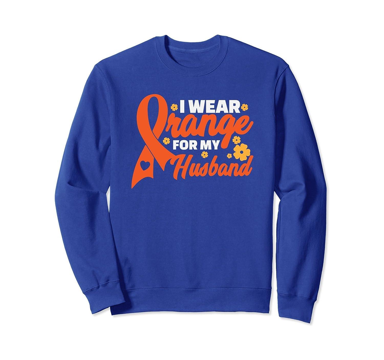 MS Awareness Sweatshirt I Wear Orange For My Husband-ln
