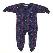 New England Patriots NFL Newborn and Toddler Fleece Sleeper, Navy (2T)