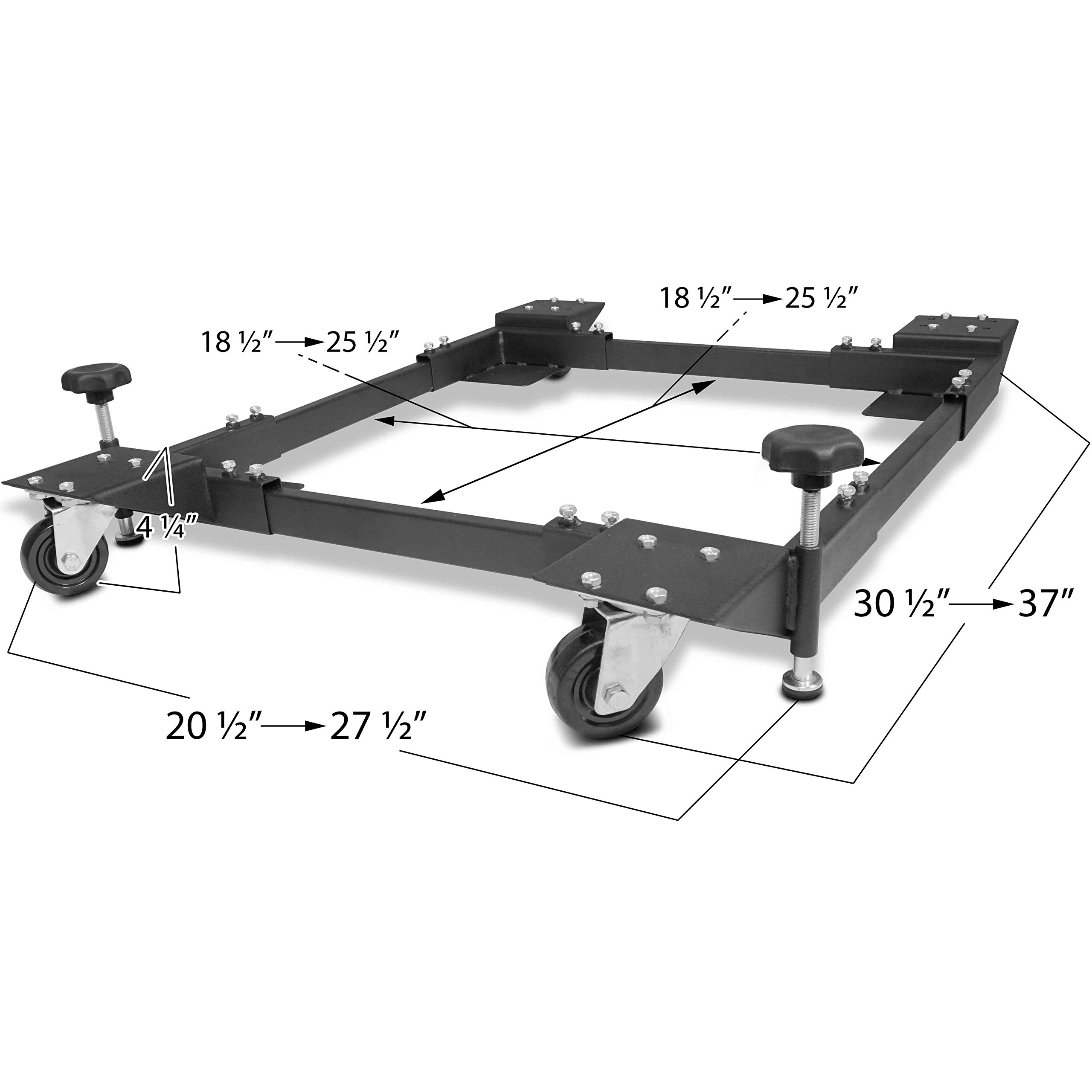 Titan Adjustable Mobile Base Dolly 600 lb Capacity HD Universal Power Tools - Make Your Workshop Portable & Easy To Use by Titan Attachments (Image #1)