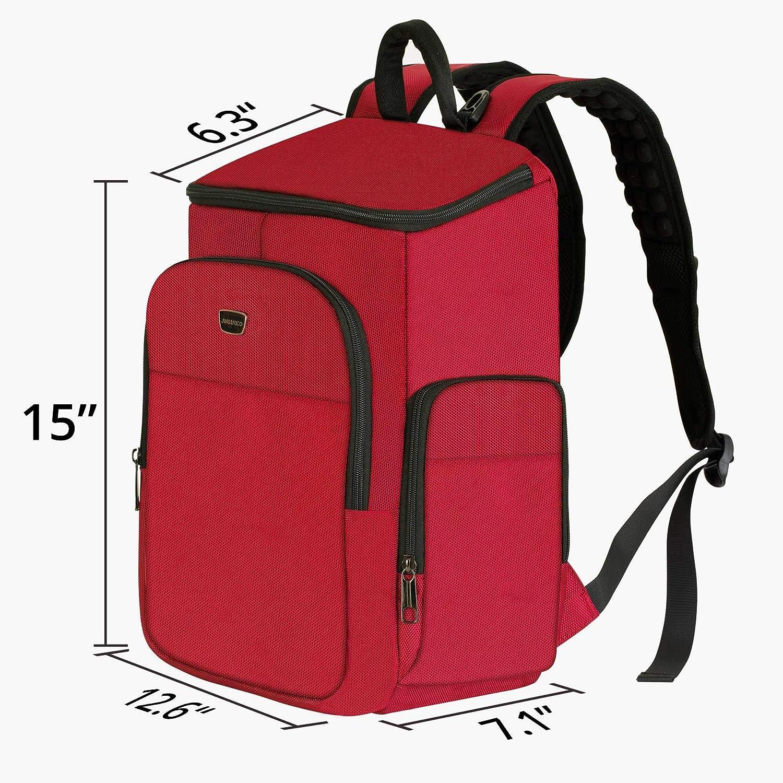 pour Homme et Femme Sac /à Dos pour Ordinateur Portable de 15,6 Pouces Sac /à Dos l/éger Rouge Imperm/éable