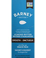 Barney Butter Almond Butter Snack Packs, Smooth, 6 Count