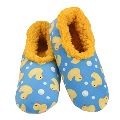 Snoozies Tried & True Slippers | Duckies | Large Yellow | Slippers