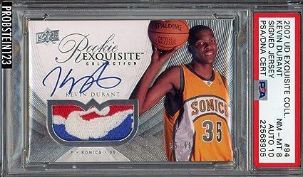 5b492cccdd94 2007-08 UD Exquisite Kevin Durant RPA RC NBA Logoman Patch AUTO 10 - PSA