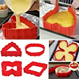 4x Silicone Cake Mold Magic Nonstick Bake Snakes Create Any Shape of Cakes for Your loved …