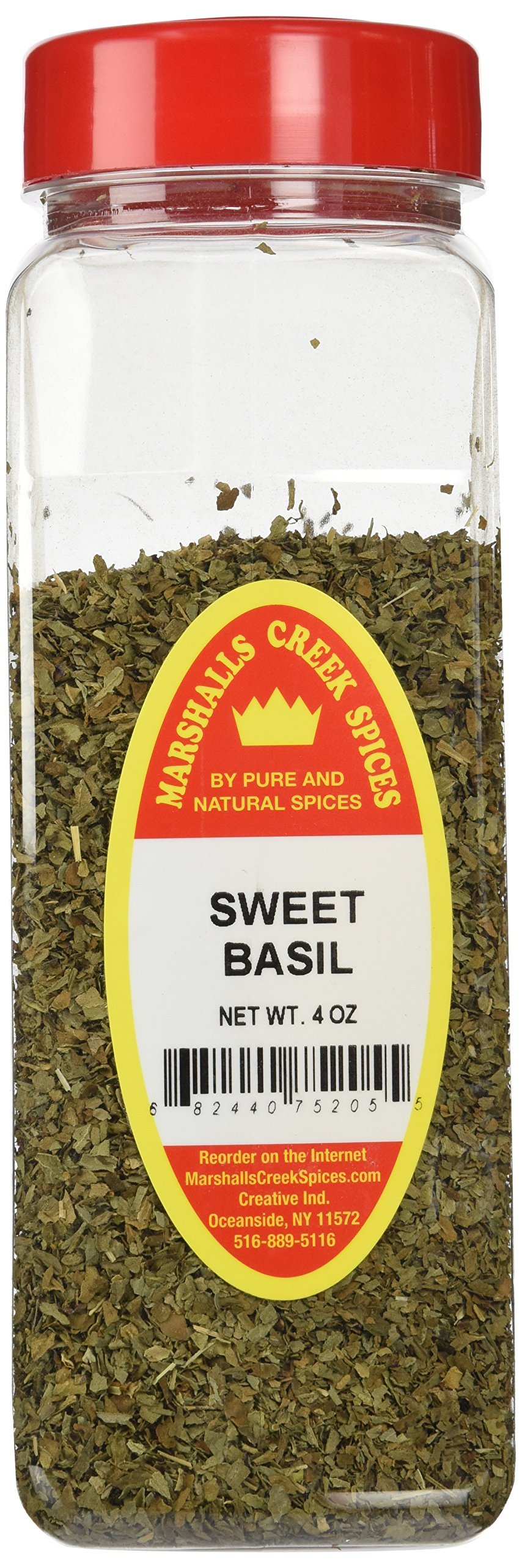 Marshalls Creek Spices X-Large Size Sweet Basil,4 Ounces
