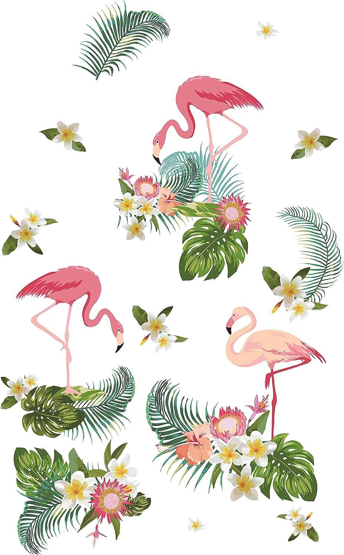 Vorhang Blickdicht verdeckte Schlaufen Digitaldruck Flamingos 2 Stück 245x140