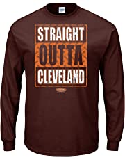 Smack Apparel Cleveland Football Fans. Straight Outta Cleveland Brown T Shirt (Sm-5X)