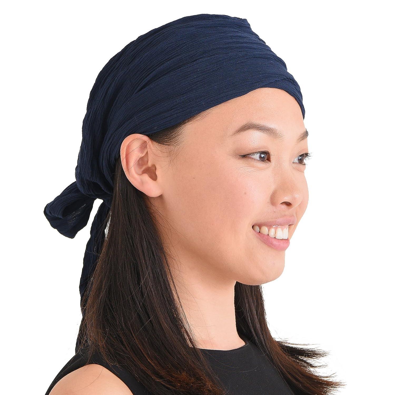 Casualbox | Shirring Turban Bandana Cap Head Scarf All-Season Boho Chic Pirate 4589777966888