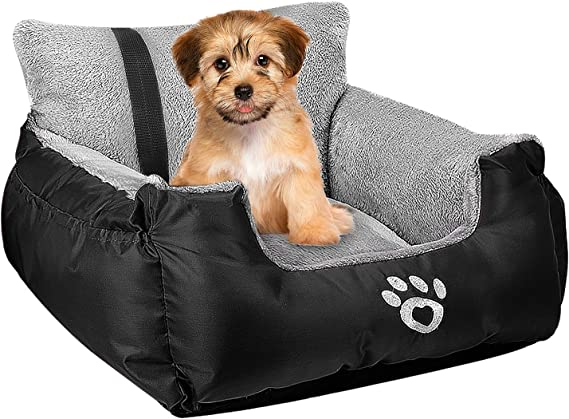 Dog Car Bed, Puppy Booster Seat - Travel-friendly Car Seat