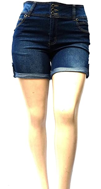 98d471b764b DB JEANS Avenue Plus Size Women s Stretch Premium Blue Denim Jeans Shorts