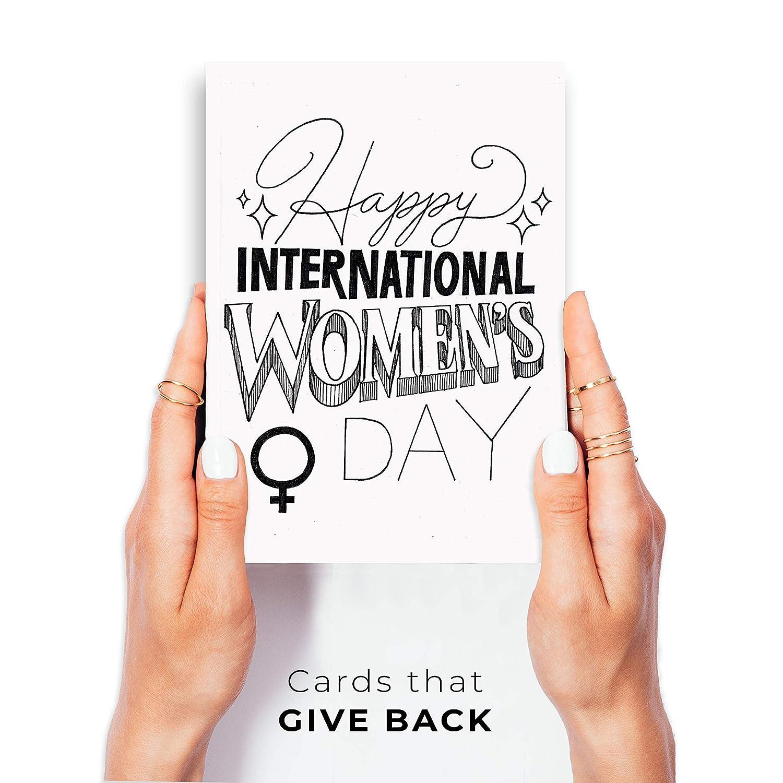 Individual, Blank inside Wunderkid Happy International Womens Day Greeting Card