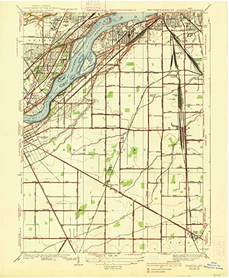 Rossford Ohio Map.Amazon Com Yellowmaps Rossford Oh Topo Map 1 31680 Scale 7 5 X