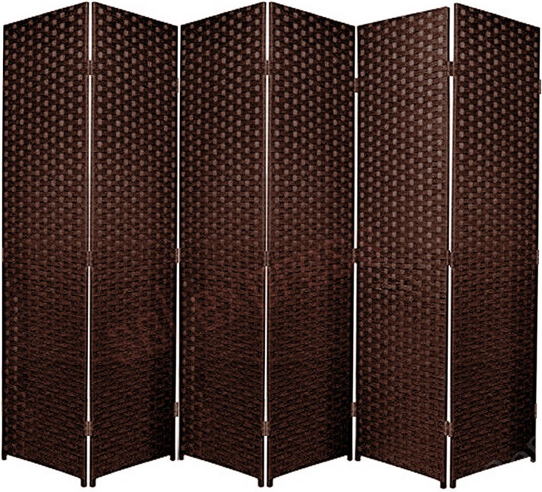 Separador de espacios plegable de 6 paneles, marrón oscuro, 6: Amazon.es: Hogar
