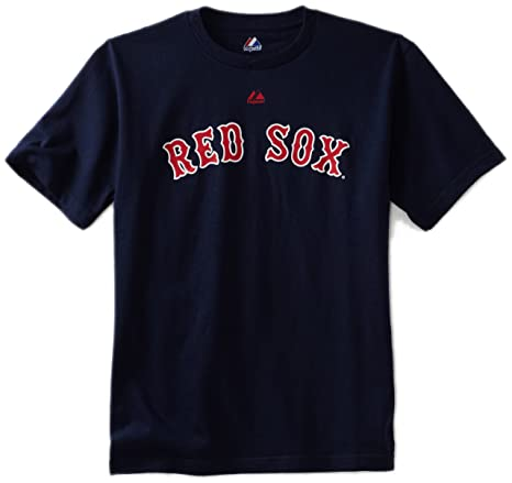 cf355708f MLB Boys  Boston Red Sox Official Wordmark Short Sleeve Basic Tee by  Majestic (Athletic