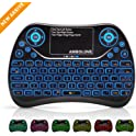 Ambolove Backlit Wireless Mini Keyboard