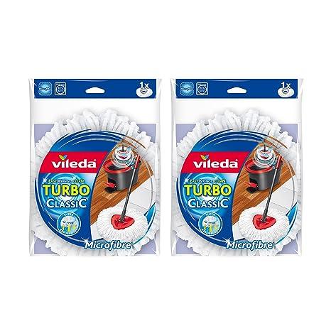 Vileda EasyWring and Clean Turbo Classic - Cabezal de Recambio de fregona de Microfibra, Microfibra