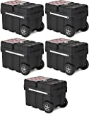Keter Masterloader Resin Rolling Tool Box with Locking System and Removable Bins – Perfect Organization and Storage…