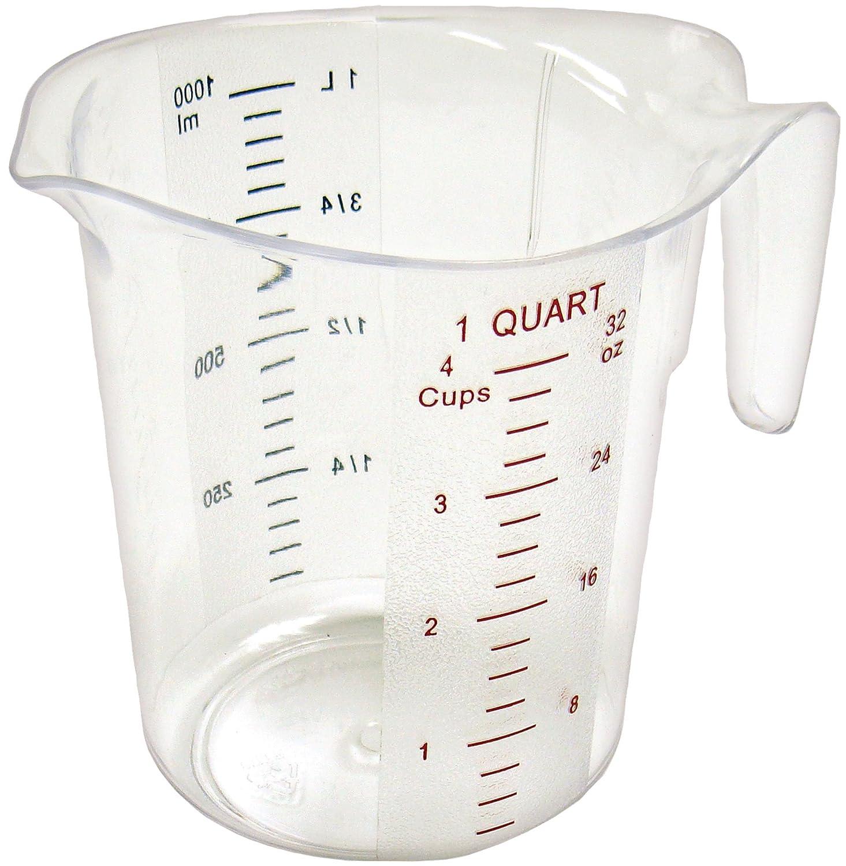 Winco Measuring Cup, Polycarbonate, 1-Quart