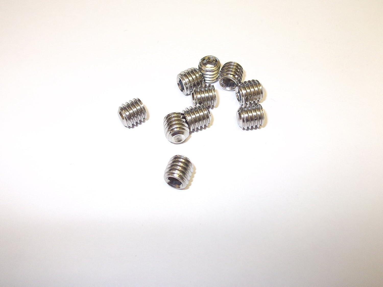 Innovo Lot de 10/M4/x 3/mm en Acier Inoxydable A2/Vis sans t/ête de Coupe Point Douille hexagonale en Acier