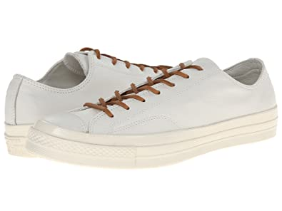 617c6ec53d4e Converse All Star Chuck  70 Leather Low Top Tan White 147115C-236 (