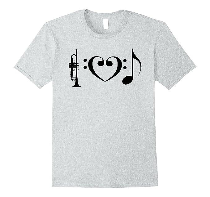 Amazon Trumpet Players I Love Music T Shirt Musical Symbols