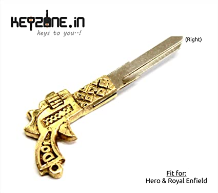 fc0a01bd7f85c5 Keyzone designer brass key blank for Royal Enfield / Hero bikes ...