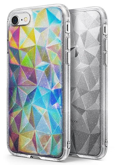 8 opinioni per Cover iPhone 7 / iPhone 8, Ringke [Air Prism Glitter Combo Pack][film da deco