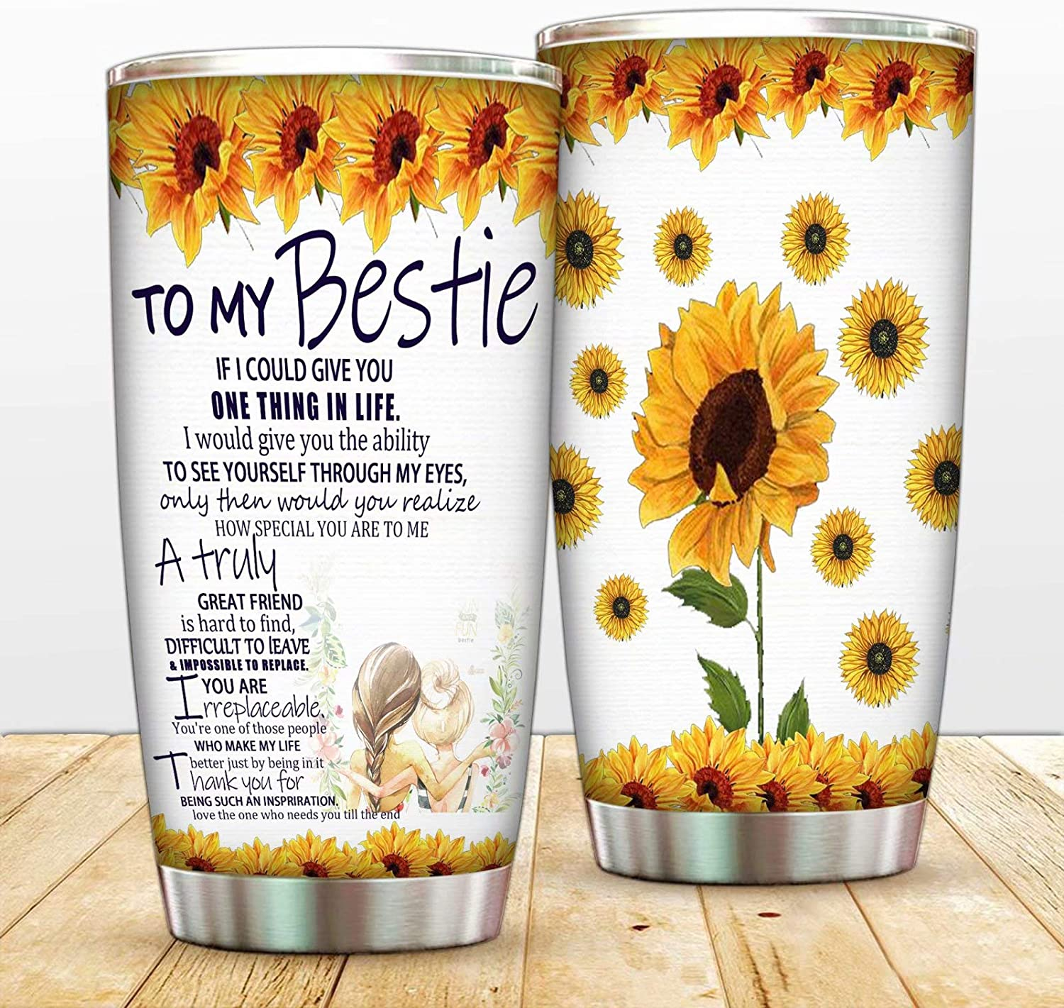 Travel Tumbler Soul Sister Drink Tumbler with Straw Personalized Best Friend Tumbler BFF Gift Bestie Tumbler Skinny Tumbler Gift