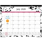 """Blue Sky 2020-2021 Academic Year Monthly Desk Pad Calendar, Two-Hole Punched, Ruled Blocks, 22"""" x 17"""", Analeis"""