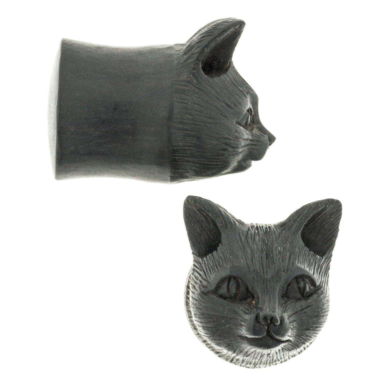 Pair of Arang Wood Kitty Plugs