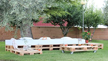 europalet Chillout Modular palets para jardín y terraza: Amazon.es: Hogar