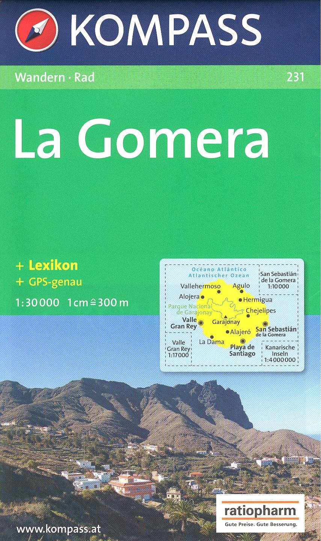 La Gomera España, Islas Canarias 1:30.000 Mapa Senderismo KOMPASS ...
