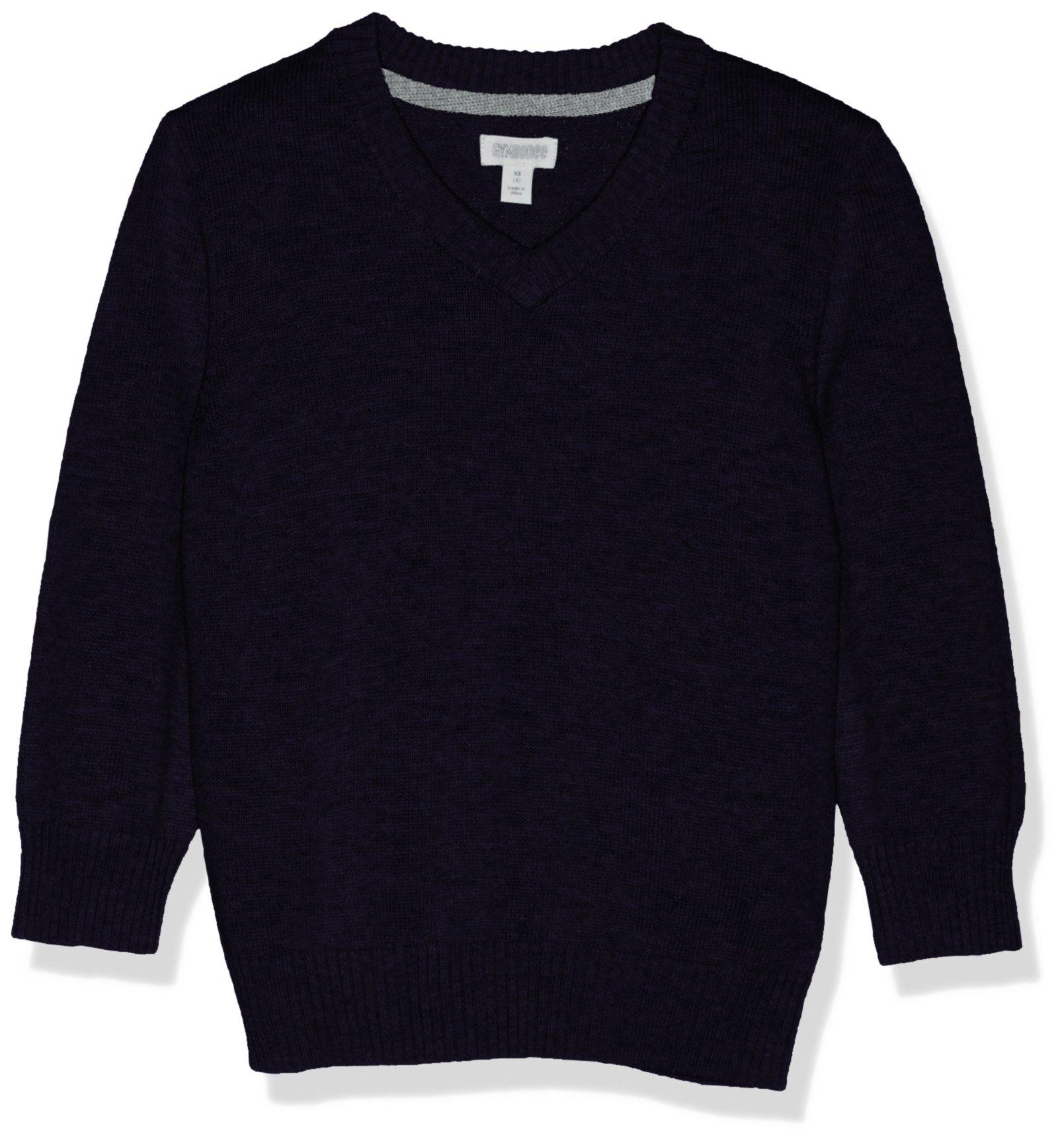 Gymboree Boys' Big Long Sleeve V-Neck Uniform Sweater, Navy, XS