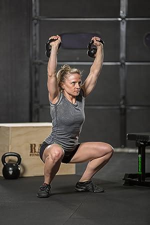 Rage Fitness Cast Iron Kettlebell, Black, Great for Cross Training, develops Strength, Power, Endurance and Dynamic Flexibility