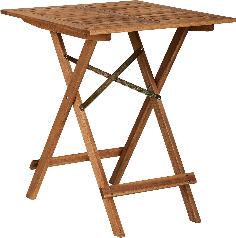 Butlers Lodge Klapptisch 32x32 cm - Tisch aus Akazienholz - für